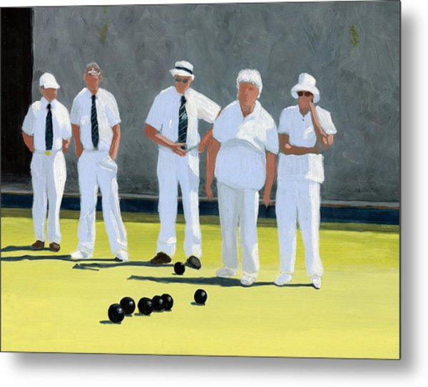 The Bowling Party Metal Print