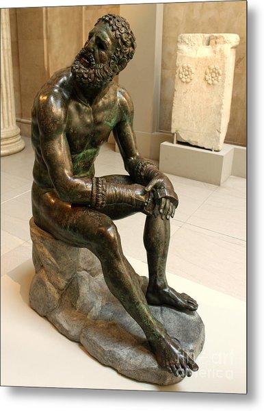The Boxer - Seated Pose Metal Print