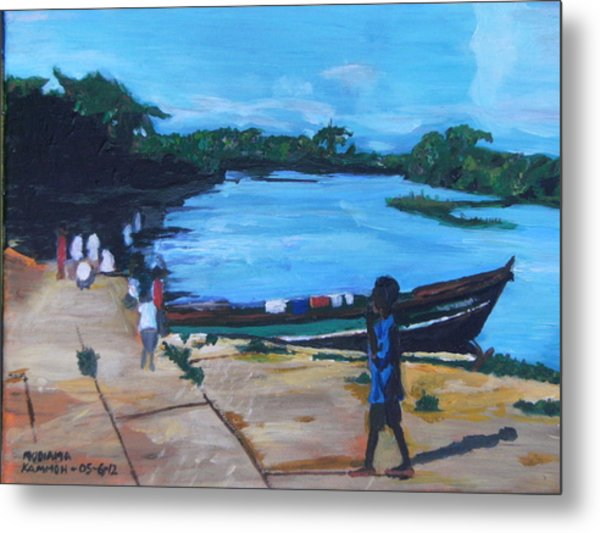 The Boy Porter  Sierra Leone Metal Print