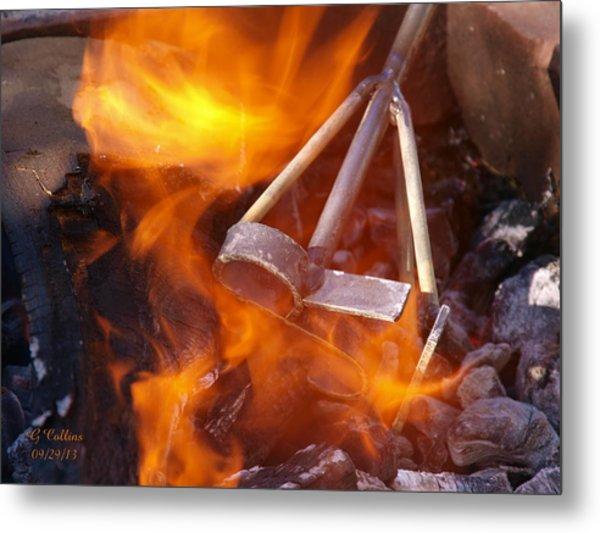 The Branding Fire Metal Print