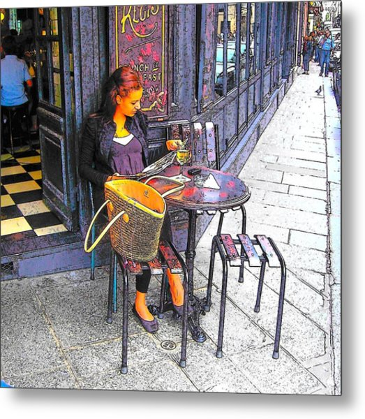 The Brasserie In Paris Metal Print