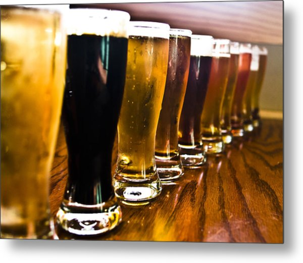 The Brew Line Up Metal Print