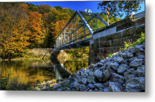 The Bridge Over Beaver Creek Metal Print