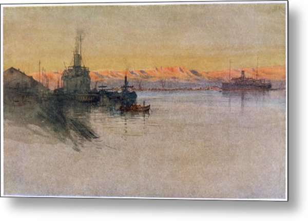 The British Transport Ships  'erma' Metal Print by Mary Evans Picture Library