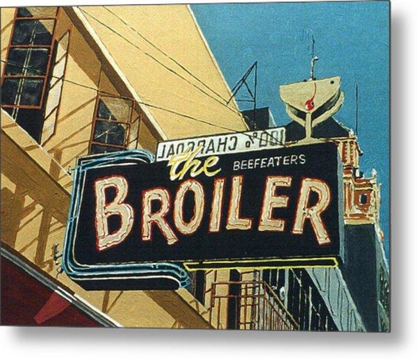 The Broiler On J Street Metal Print by Paul Guyer