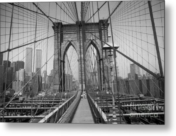 The Brooklyn Bridge Before Nine Eleven Metal Print