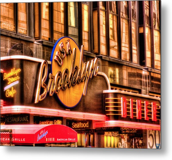 The Brooklyn Diner And Cafe 001 Metal Print
