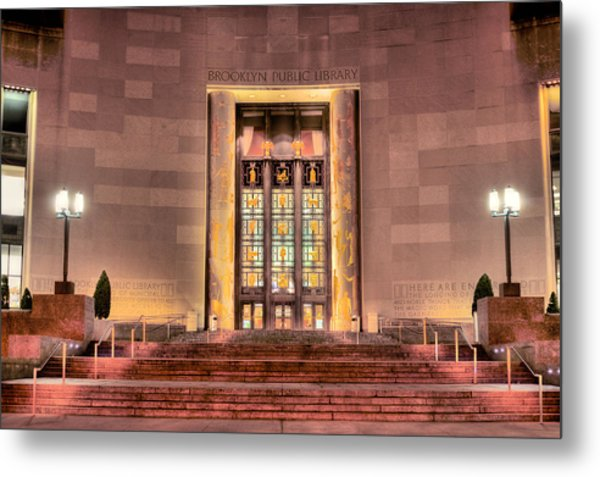 The Brooklyn Public Library Metal Print by JC Findley