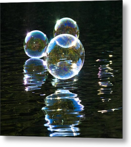 The Bubble Worlds Metal Print