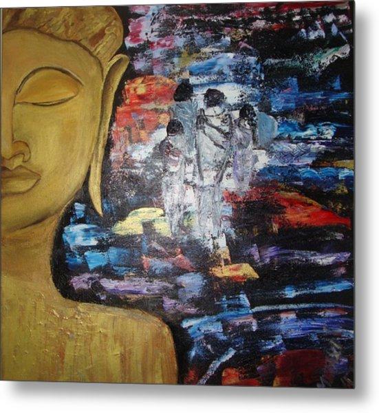 The Buddha Way Metal Print by Meenakshi Chatterjee
