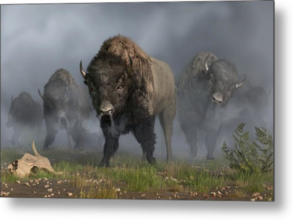 Metal Print featuring the digital art The Buffalo Vanguard by Daniel Eskridge