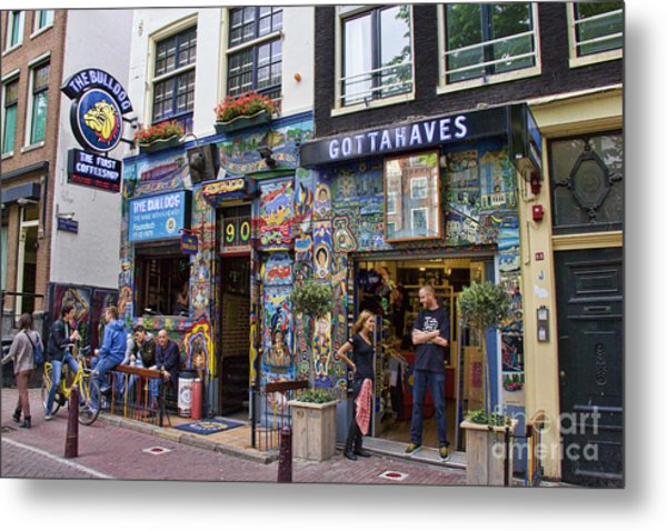 The Bulldog Coffee Shop - Amsterdam Metal Print