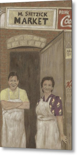 The Butcher And His Wife  Metal Print