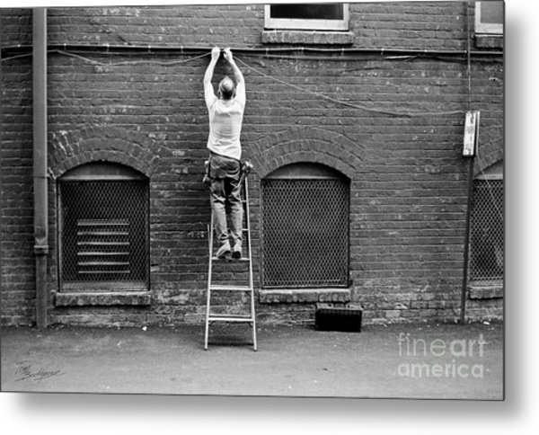 The Cable Man  Metal Print