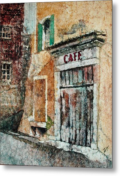 The Cafe Is Closed Metal Print