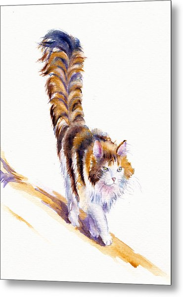 The Calico Cat That Walked By Himself Metal Print