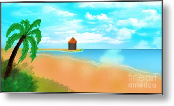 The Calm Coast Metal Print by Sheikh Designs