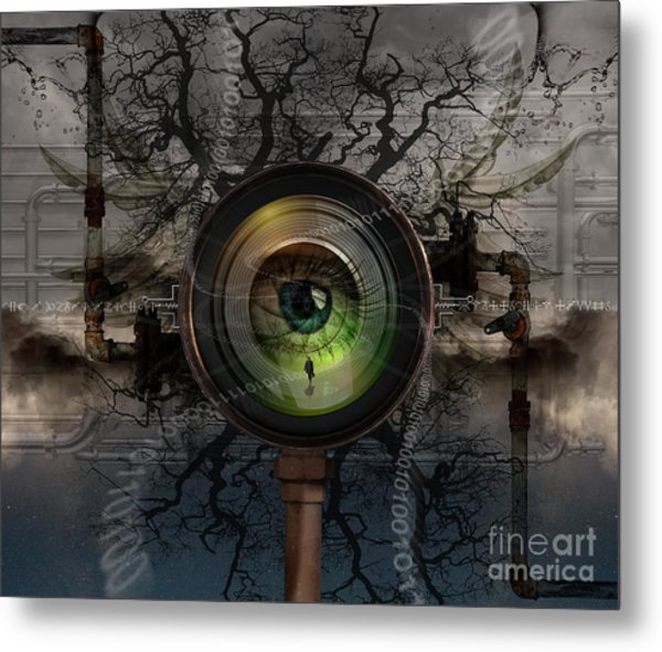 The Camera Eye Metal Print by Keith Kapple