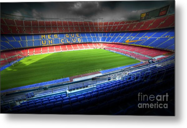 The Camp Nou Stadium In Barcelona Metal Print