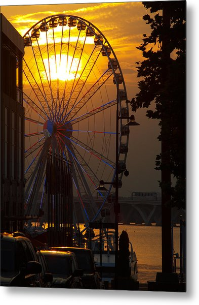 The Capital Wheel Metal Print