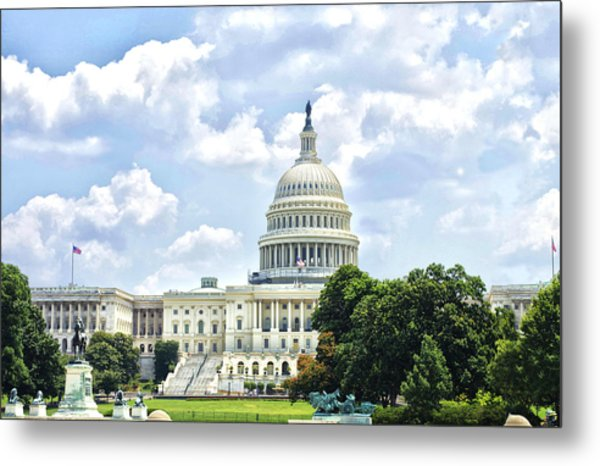 The Capitol Building Metal Print by Sandra Welpman