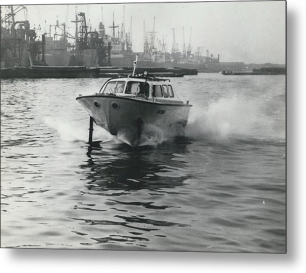 The �captain�s Barge� - 1963 Version Metal Print by Retro Images Archive