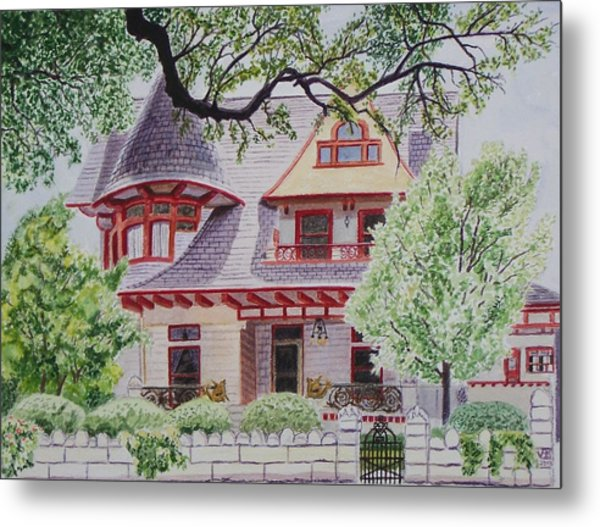 the Captain's House Metal Print