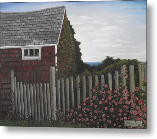 The Captain's Widow's House Metal Print