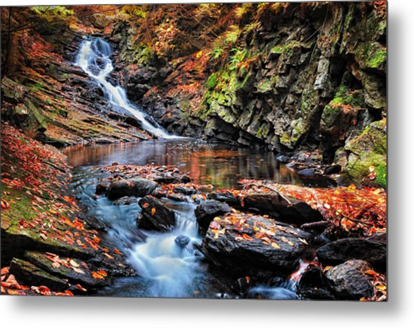 The Cascades Of Chesterfield Gorge Metal Print