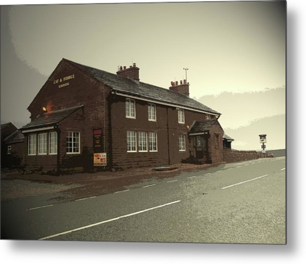 The Cat And Fiddle Public House, Pictured Here Metal Print by Litz Collection