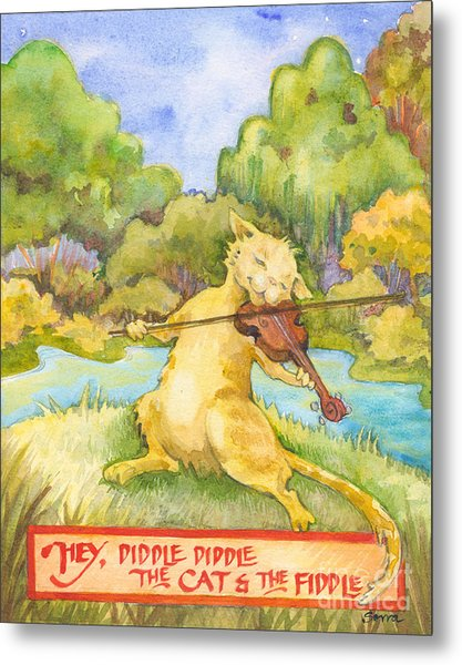 The Cat And The Fiddle Metal Print
