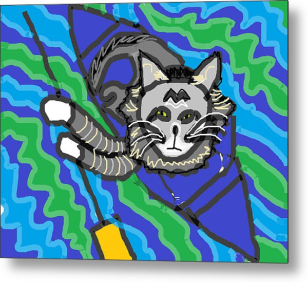 The Cat Rescuer Metal Print