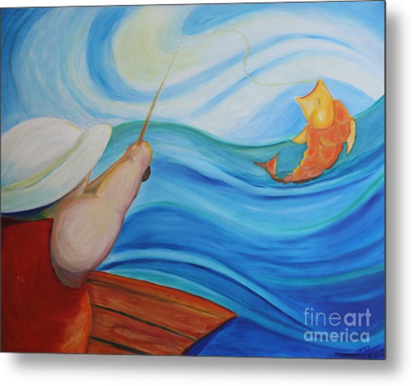 The Catch Metal Print by Teresa Hutto