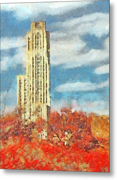 The Cathedral Of Learning At The University Of Pittsburgh Metal Print