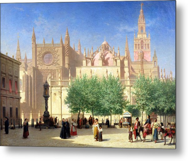 The Cathedral Of Seville Metal Print