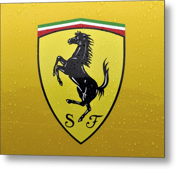 The Cavallino Rampante Symbol Of Ferrari Metal Print