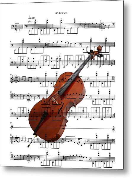 The Cello Metal Print