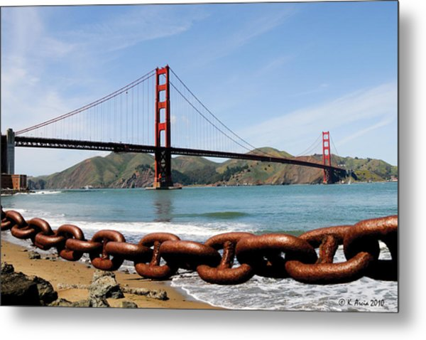 The Chain On The Gate Metal Print