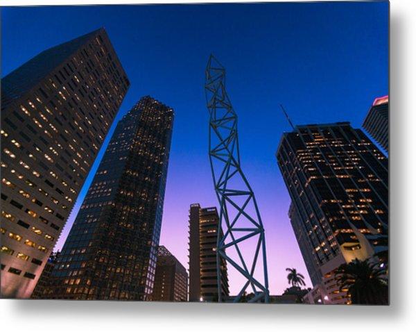 The Challenger Monument - Downtown Miami Metal Print by Dan Vidal