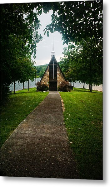 The Chapel On The Lake Metal Print