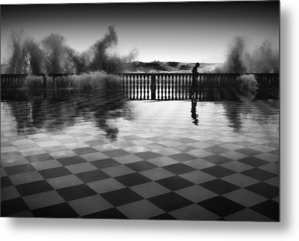 The Chessplayer Metal Print by Paolo Lazzarotti