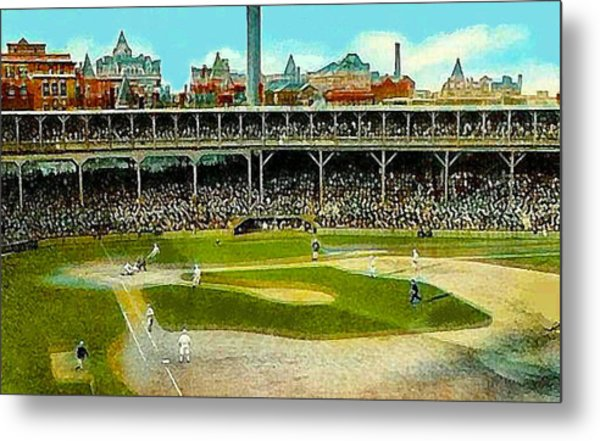 The Chicago Cubs West Side Grounds Stadium In 1913 Metal Print