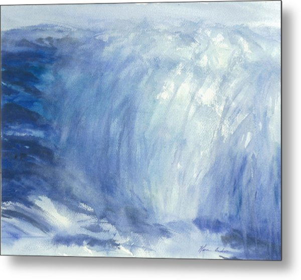 The Chill Of The Winters Sea Metal Print by Karen  Condron