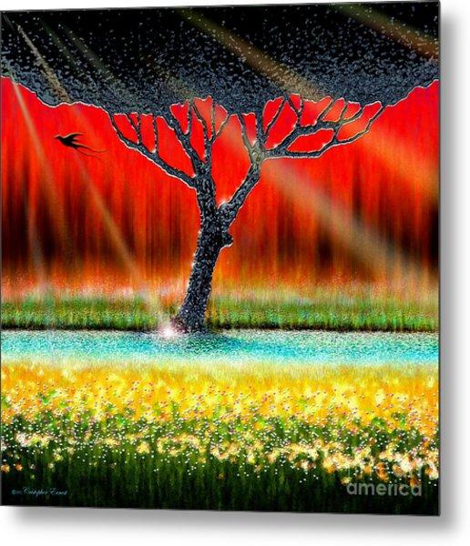 The Chrome Tree Metal Print
