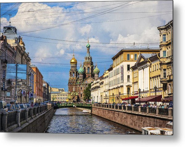 The Church Of Our Savior On Spilled Blood - St. Petersburg - Russia Metal Print