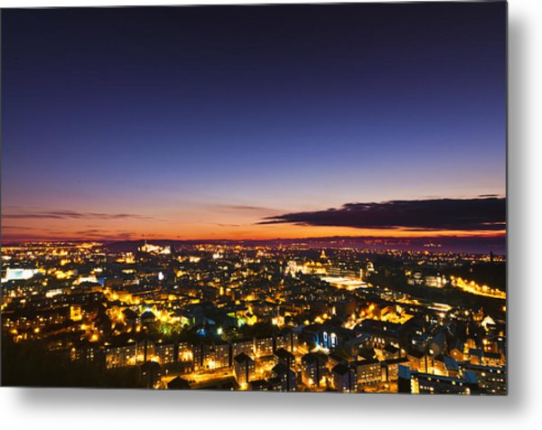 The City Of Lights Metal Print