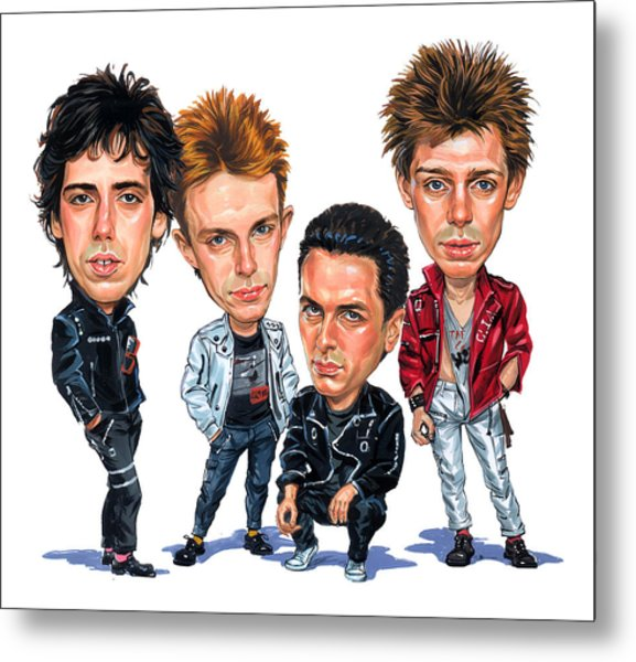 The Clash Metal Print by Art