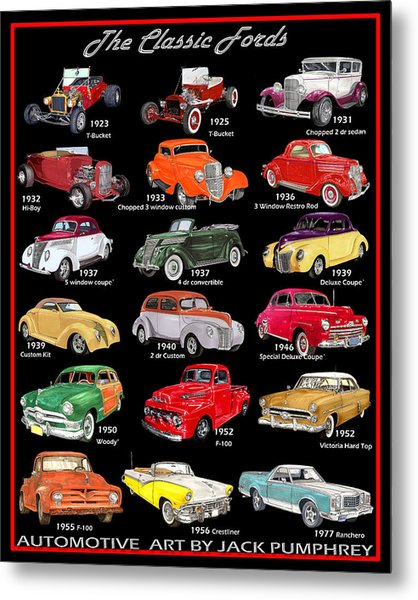 The Fords Shower Curtain Metal Print