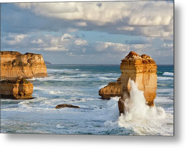 The Coastline Near Loch Ard Gorge Metal Print