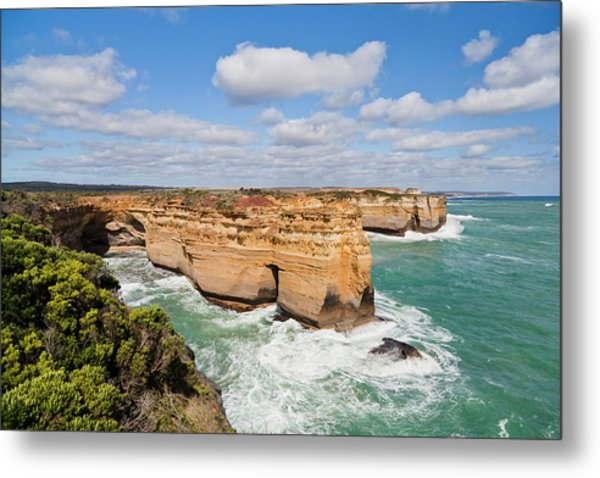 The Coastline Near Loch Ard Gorge, View Metal Print